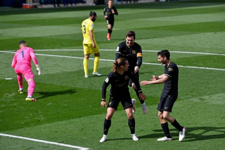 Antoine Griezmann bawa Barcelona mengalahkan tuan rumah Villarreal
