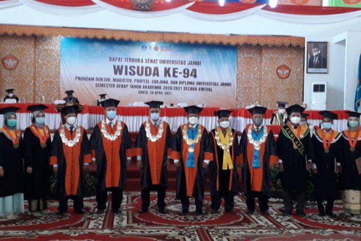 Universitas Jambi wisuda 1.452 mahasiswa secara virtual