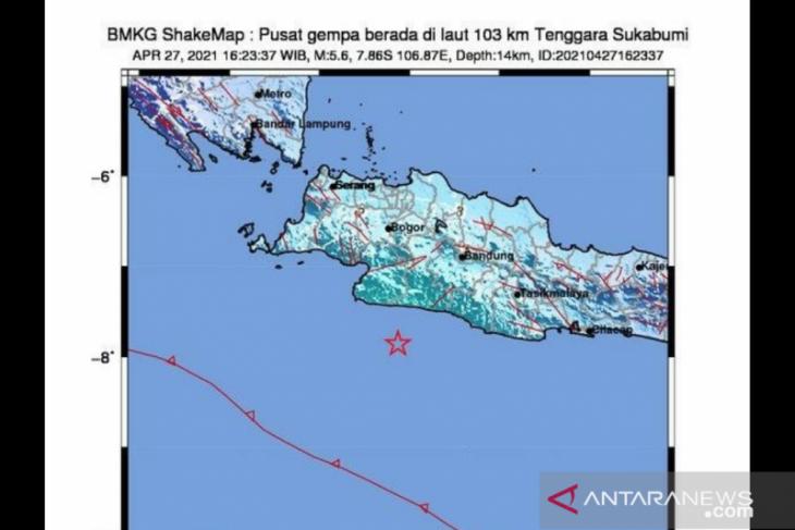 Sukabumi diguncang gempa ber-Magnitudo 5,6 Jelang berbuka puasa
