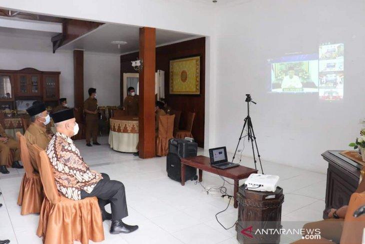 Bupati Aceh Tengah ikuti peringatan hari OTDA secara virtual dengan Wapres RI