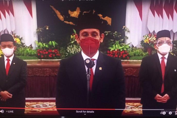 Nadiem Makarim dilantik sebagai Mendikbud-Ristek oleh Presiden