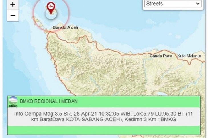 BMKG sebut gempa bumi di Sabang disebabkan aktifitas sesar aktif