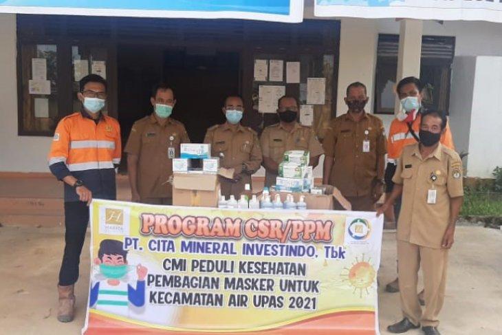PT CMI bantu Kecamatan Air Upas Ketapang cegah penyebaran COVID-19
