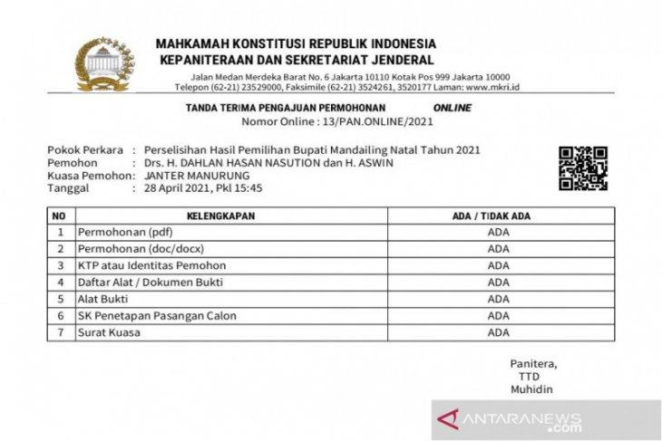 Dahwin menggugat, KPU Madina tunda penetapan Bupati dan Wakil Bupati terpilih