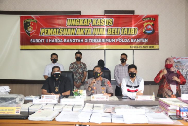 Ditreskrimum Polda Banten ungkap 690 Akta Jual Beli palsu