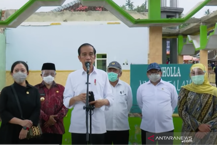 Presiden : Pemerintah bantu warga bangun rumah rusak akibat gempa