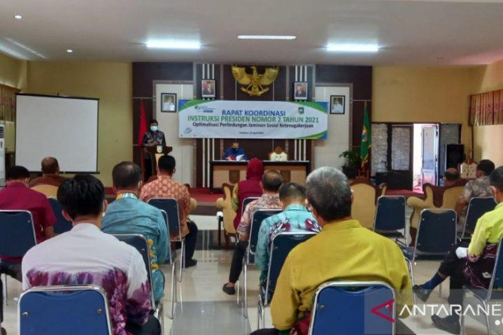 Pemkab- BPJS Ketenagakerjaan gelar rapat koordinasi Inpres No:2/2021