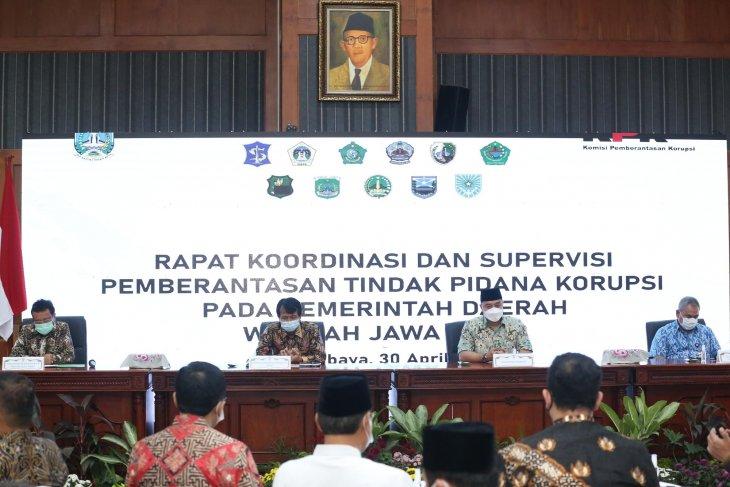 KPK gelar rakor dan supervisi pemberantasan korupsi di Surabaya