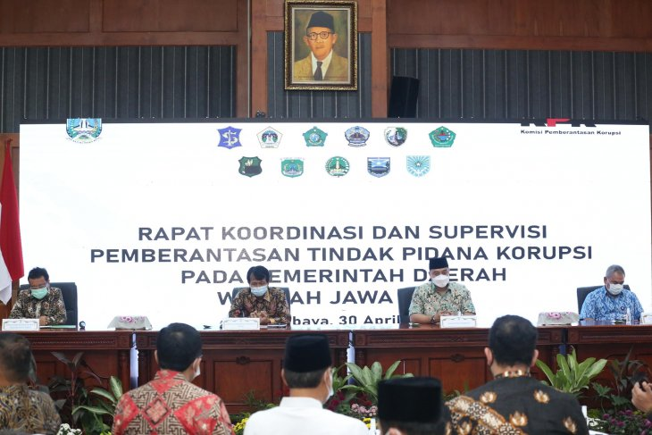 KPK gelar rakor pemberantasan tindak pidana korupsi di Kota Surabaya