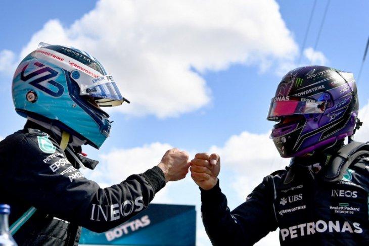 Formula 1: Bottas gagalkan upaya Hamilton raih pole position ke-100 di Portugal