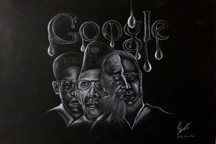 Seniman Mr D sambut Hardiknas dengan pameran lukisan sketsa virtual