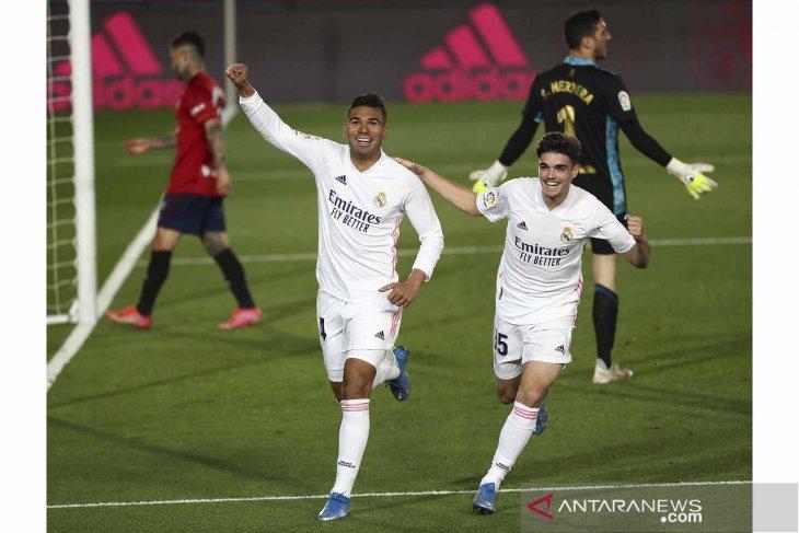 Real Madrid terus tempel Atletico setelah bungkam Osasuna 2 - 0