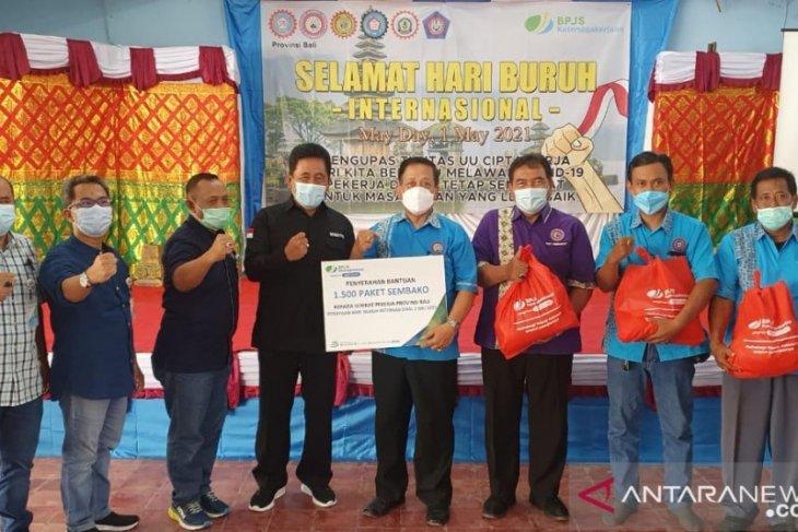 BPJAMSOSTEK Banuspa-KSPSI Bali peringati Hari Buruh