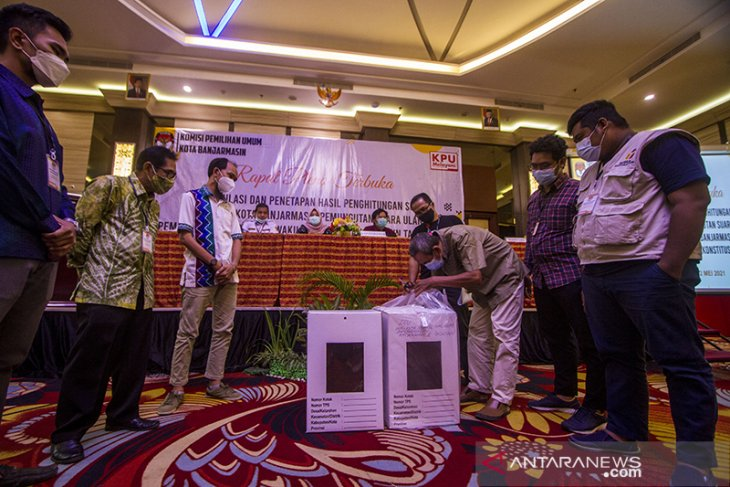 Rekapitulasi Pemungutan Suara Ulang Pilkada Kota Banjarmasin