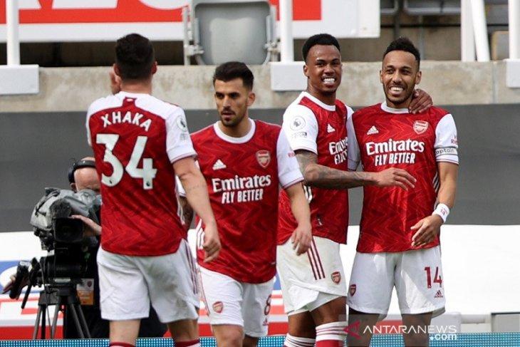 Aubameyang gembira kembali main dan mencetak gol ke gawang Newcastle