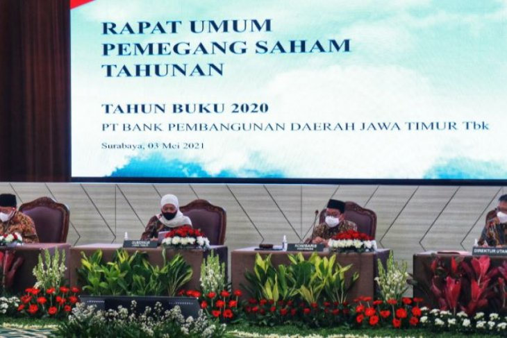 RUPS Bank Jatim setujui pembagian deviden Rp733,5 miliar