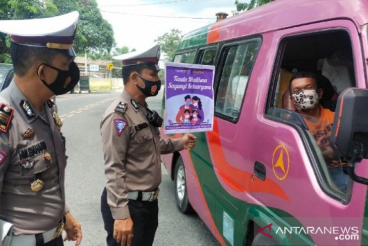 Sat Lantas Polres Tanjungbalai kampanye tunda mudik lebaran