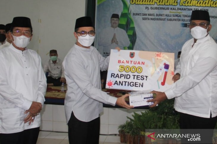 HST receives Rp554 million, 5,000 rapid antigen test kits from provincial government