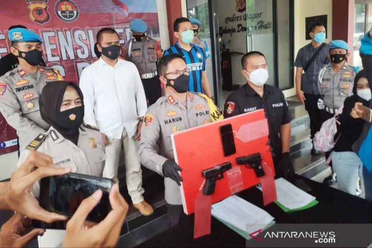 Polisi tangkap warga Bogor  todongkan pistol ke kurir