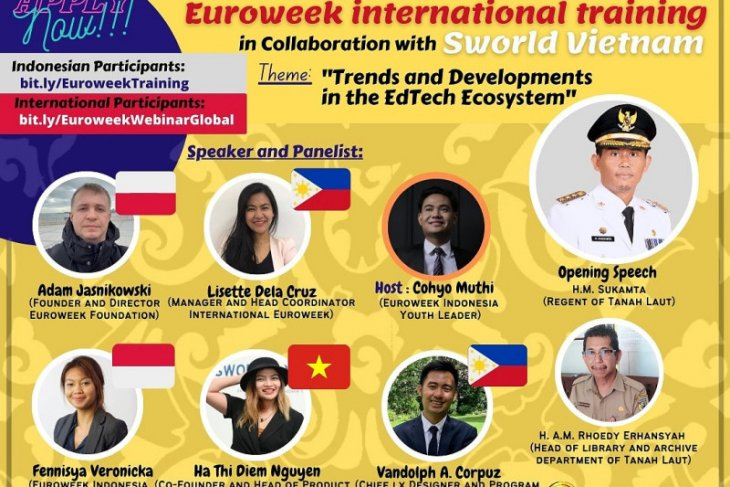 Euroweek-Dispusip Tala gelar webinar internasional