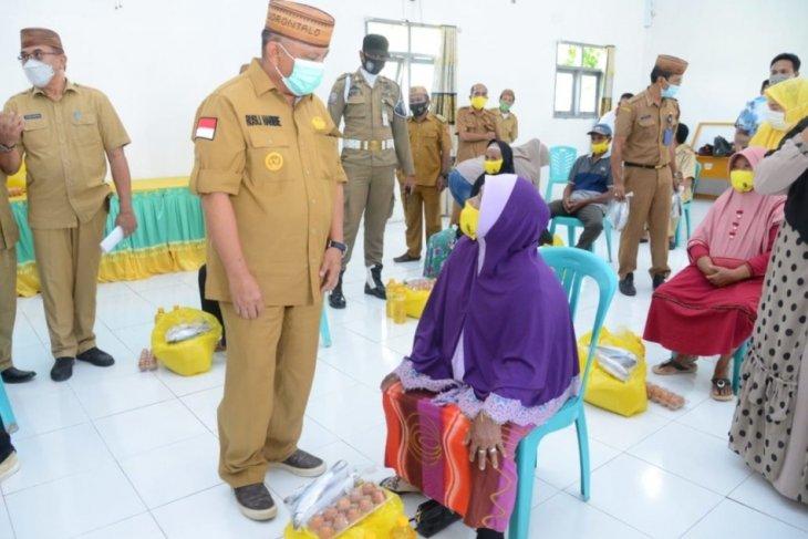 1.208 KPM di Gorontalo Utara terima bantuan pangan dari Pemprov