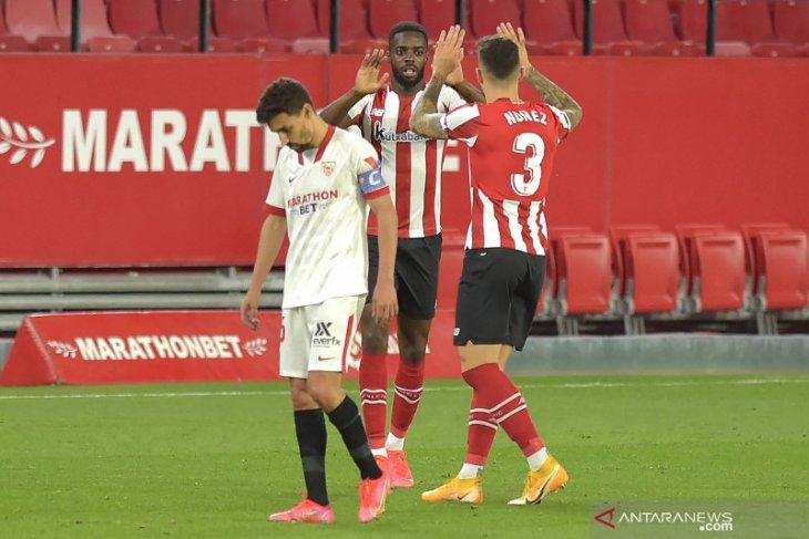 Dipermalukan Bilbao 1-0, peluang juara Sevilla meredup