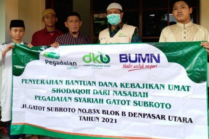 Pegadaian Syariah Gatot Subroto di Denpasar salurkan dana kebajikan umat