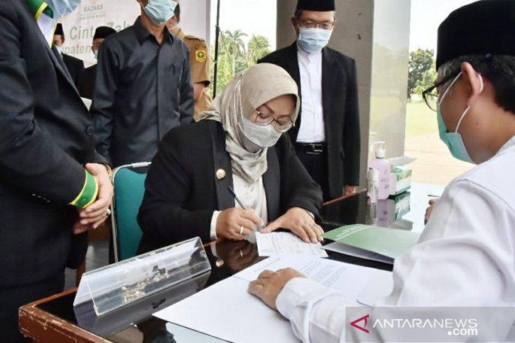 Bupati Bogor ingatkan  Baznas dalam penggunaan dana zakat
