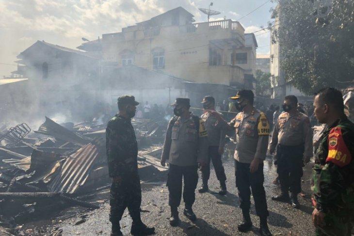 Polisi masih selidiki penyebab kebakaran di Pasar Belakang Sibolga
