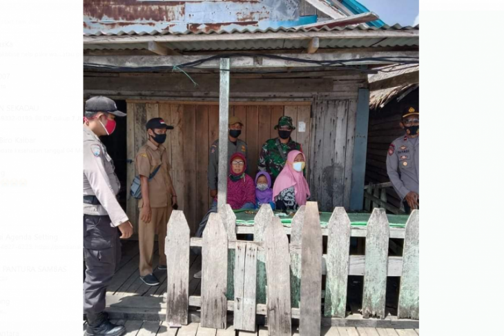 Satgas PPKM Mikro galakkan disiplin protkes di Pulau Maya Karimata