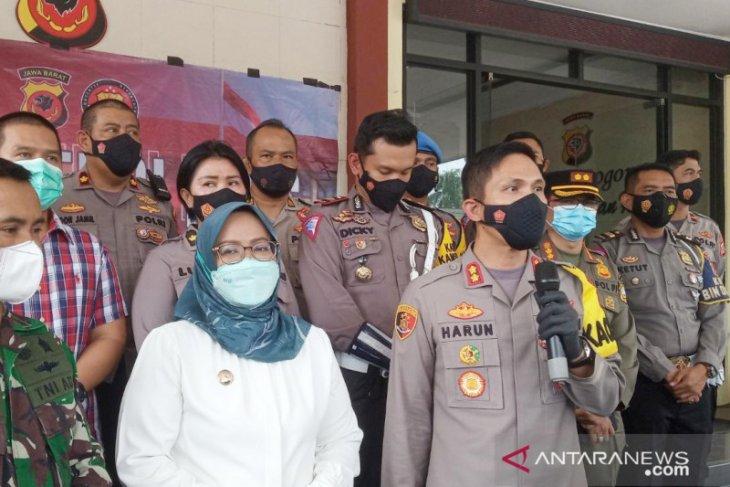 Polres Bogor-manajemen mal sepakat cegah kerumunan