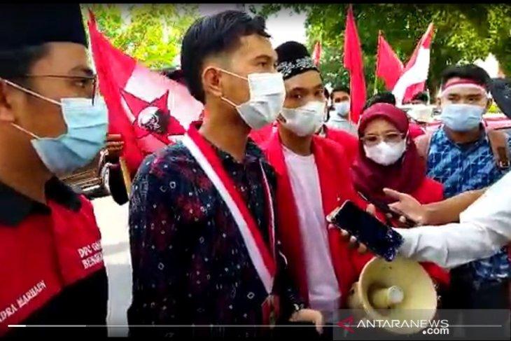 GMNI Bengkulu demo tolak dana hibah Pemkot Rp11 miliar ke Kejati