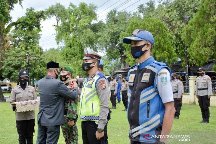 Baca amanat Kapolri, wali kota Sabang pimpin apel operasi ketupat Seulawah 2021