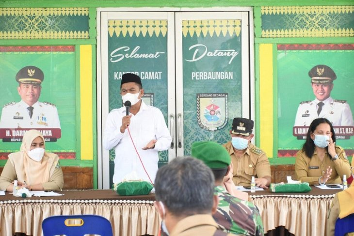 Tangkal Pandemi, Bupati Sergai roadshow di Kecamatan Pegajahan