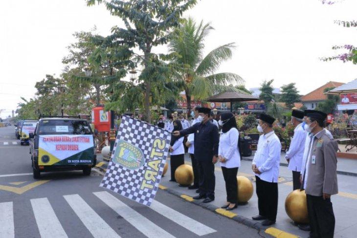 Wali Kota Maidi berangkatkan penyaluran 14,92 ton beras hasil zakat masyarakat