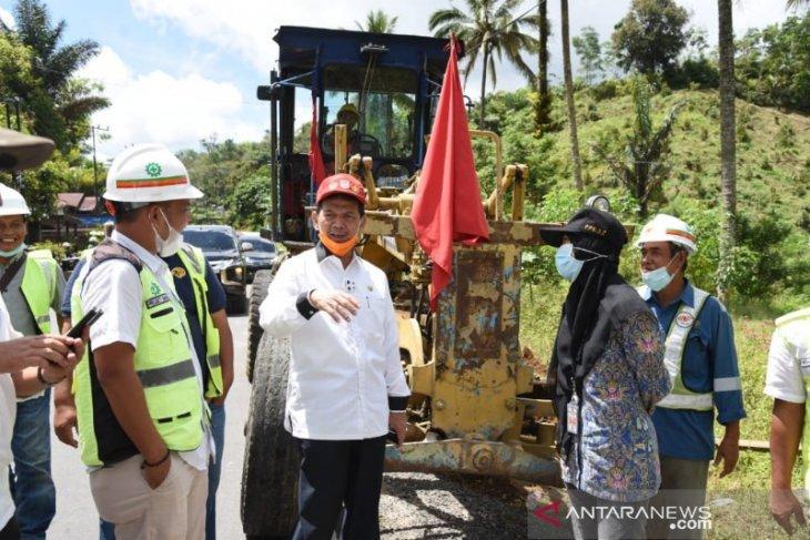 Ruas Jalan Nasional Batang Toru - Padang Sidempuan mulai dikerjakan