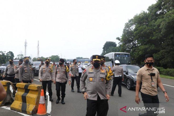 Wakpolda Jabar tinjau pelaksanaan Operasi Ketupat Lodaya 2021 di Kota Bogor
