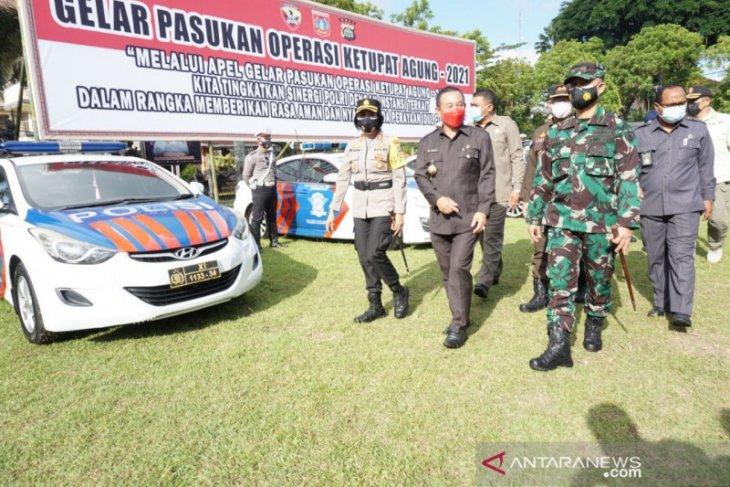 Bupati Karangasem pimpin Apel Gelar Pasukan Operasi Ketupat 2021