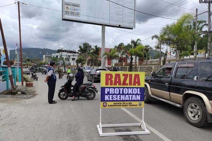 Aceh Tengah maksimalkan razia protokol kesehatan jelang Idul Fitri 1442 H