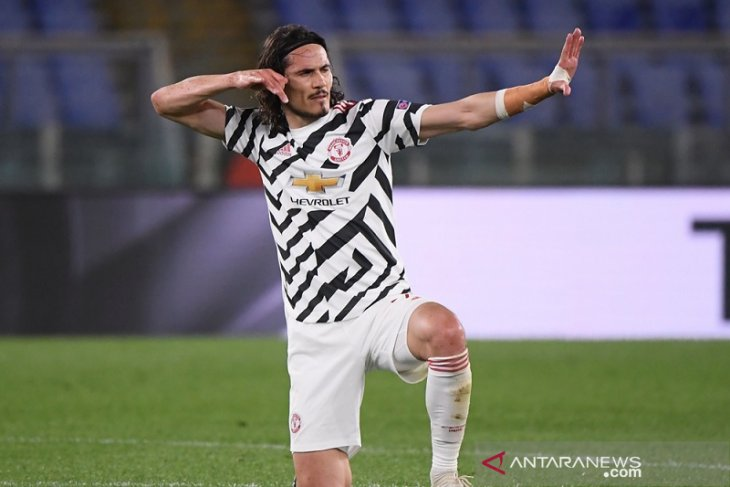 Liga Europa: De Gea dan Cavani  banjir pujian setelah bantu MU lewati Roma