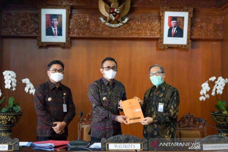 Wali Kota Denpasar bahas LKPD  bersama BPK Perwakilan Bali
