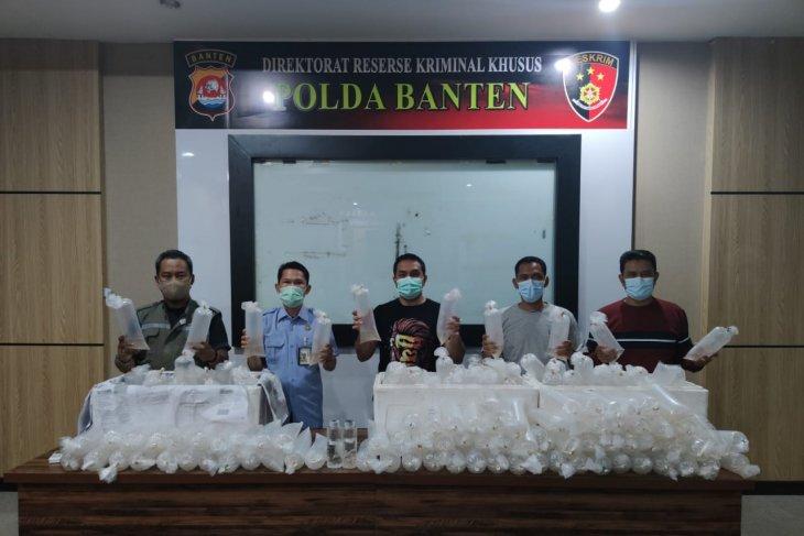 Ditreskrimsus  Polda Banten gagalkan penyelundupan 34.992 benih lobster