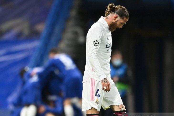 Alami cedera , Ramos kemungkinan telah mainkan laga terakhir di Madrid