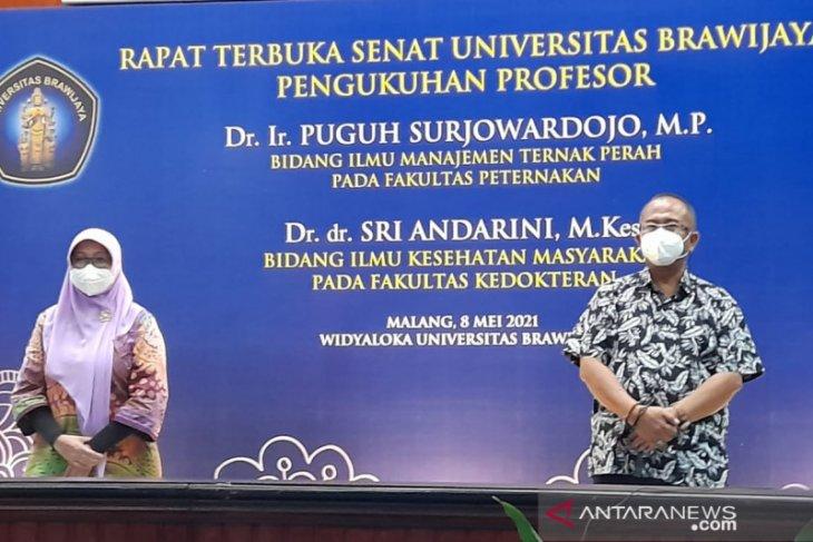 Universitas Brawijaya kukuhkan dua profesor sekaligus