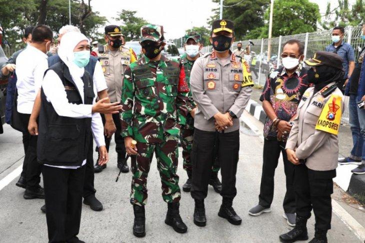 Forkopimda Jatim cek Pos Suramadu untuk pastikan prosedur penyekatan