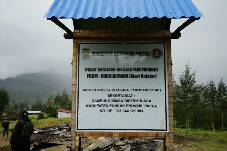 Papuan separatists burn down public learning activity center in Puncak