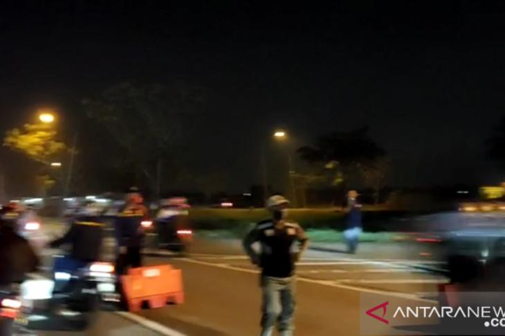 Polisi benarkan video viral ratusan pemudik terobos penyekatan di Karawang