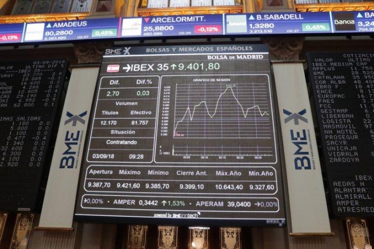 Saham Spanyol balik melemah, indeks IBEX 35  merosot 1,72 persen