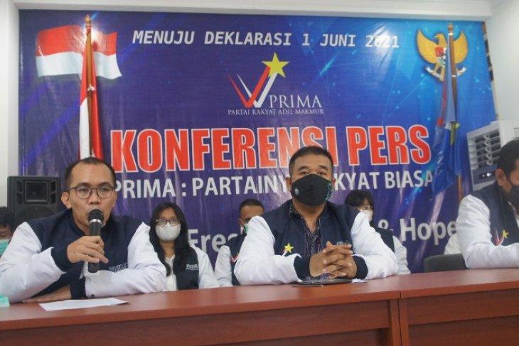 Partai Prima deklarasikan pada 1 Juni 2021
