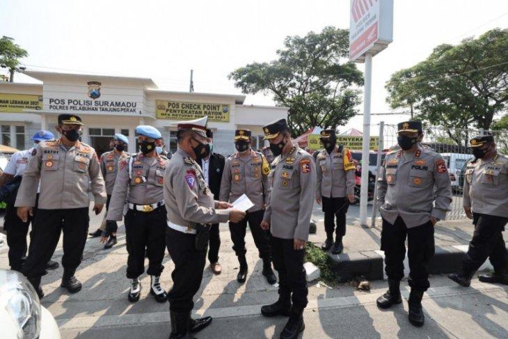 Tim Supervisi Polri pantau pelaksanaan penyekatan dan larangan mudik di Jatim